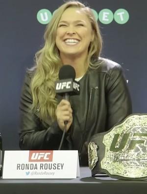 Ronda Rousey Coletiva UFC 193 (Foto: Reprodução)