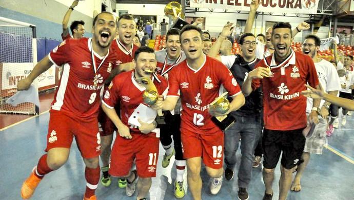 Sorocaba Futsal, campeão da Liga Paulista, Falcão (Foto: Divulgação / Futsal Brasil Kirin)
