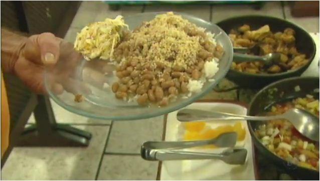 Arroz com feijão é a combinação perfeita na culinária brasileira (Foto: REPRODUÇÃO EPTV)