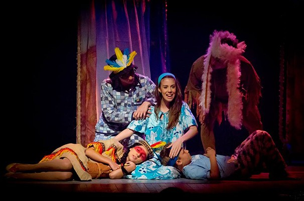 Cena da montagem de 'Peter Pan', da Cia Repertório de Teatro Musical (Foto: Divulgação)