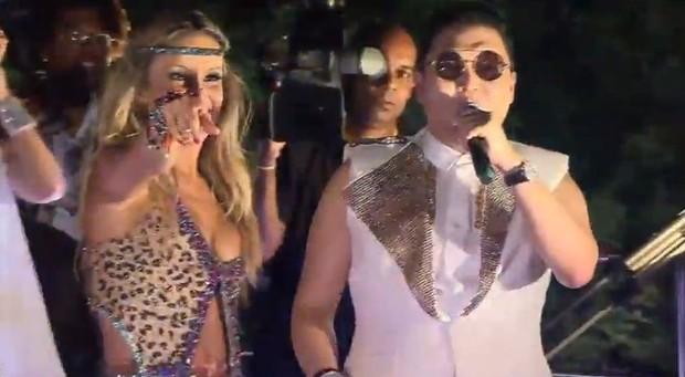 Psy e Claudia Leitte se apresentam no trio em Salvador (Foto: Instagram / Reprodução)