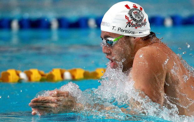 Thiago Pereira 100 metros medley no Trofeu Jose finkel de Natacao (Foto: Satiro Sodré / Agif)