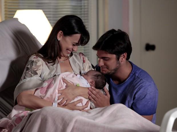 Janaína, a filha de Natália e Juliano (Foto: Vila dos Ventos / TV Globo)