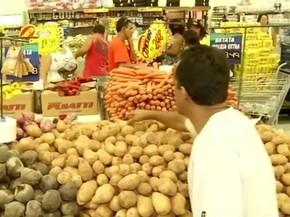 Batata inglesa foi o produto da cesta básica que mais aumentou em Barra Mansa entre dezembro e janeiro (Foto: Reprodução/TV Rio Sul)