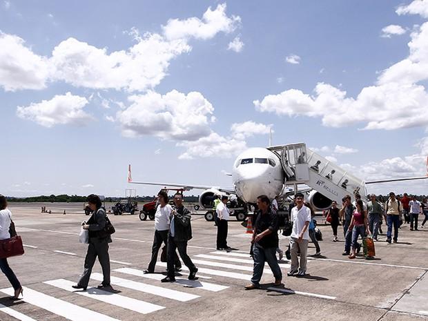 O Aeroporto Internacional de Foz do Iguaçu, no Paraná, é 20º mais movimentado do país (Foto: Itaipu Binacional / Divulgação)