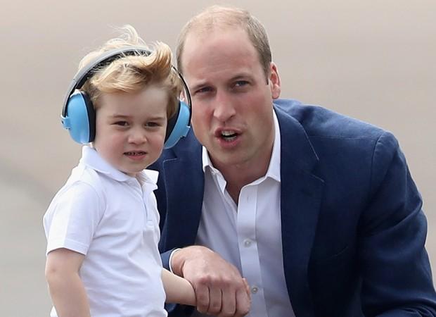 Príncipe William e o filho mais velho, George (Foto: Getty Images)