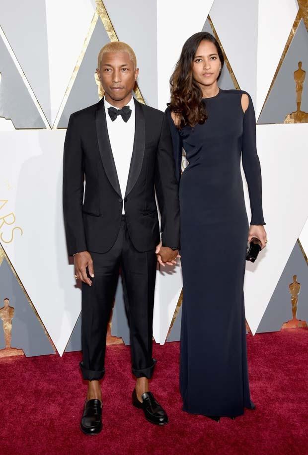 Pharrell Williams e sua esposa, Helen Lasichanh (Foto: Getty Images)