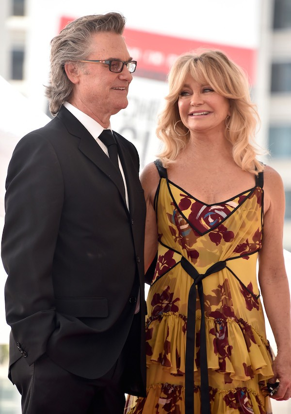 A atriz Goldie Hawn com o marido, Kurt Russell (Foto: Getty Images)