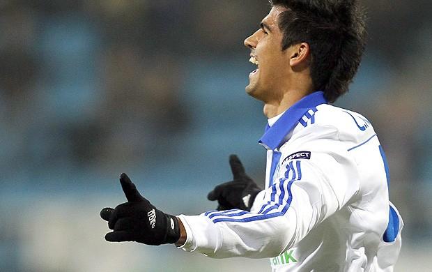 Leandro Almeida, Dínamo Kiev x Maccabi Tel-Aviv (Foto: EFE)