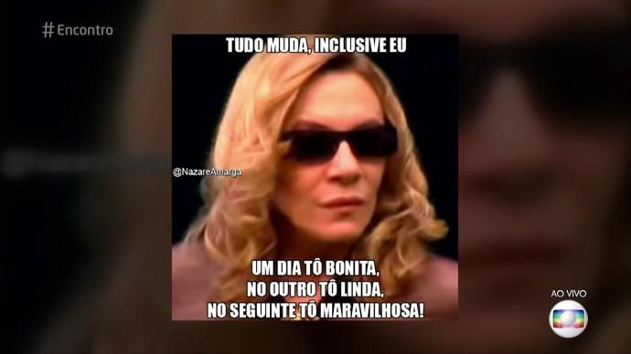 Renata Sorrah se diverte com memes de sua eterna personagem  (Foto: TV Globo)