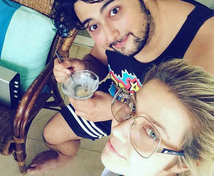 Luiza e DJ Gorky: muito amor (Foto: Arquivo Pessoal)