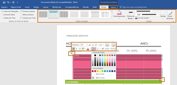 Edite o layout do template com as cores e formatos que preferir (Foto: Reprodução/Barbara Mannara)