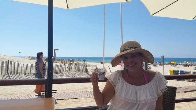 Nina Barbpsa em Algarve, sul de Portugal (Foto: Arquivo Pessoal)