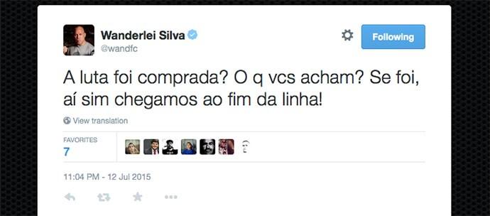 BLOG: Wanderlei Silva levanta teoria da conspiração sobre vitória de McGregor