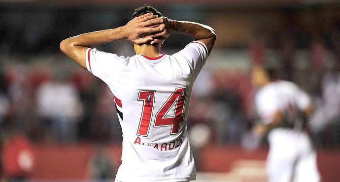 Alan Kardec, são Paulo X Palmeiras (Foto: Marcos Ribolli)
