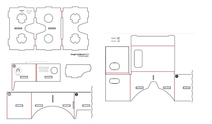 Modelo de impressão do óculos para corte à tesoura (Foto: Divulgação/Google)