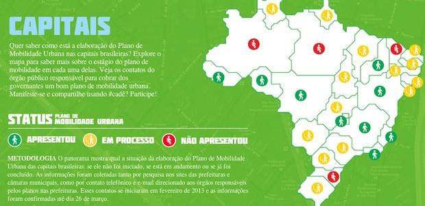 Site do Greenpeace mostra que capital paulista ainda não finalizou seu plano de mobilidade urbana obrigatório (Foto: Reprodução)