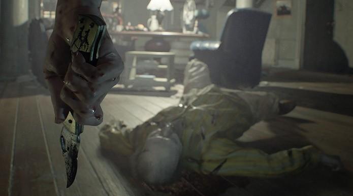 Ao contrário do que indica a imagem, a faca é uma das armas menos eficazes de Resident Evil 7 (Foto: Divulgação/Capcom)