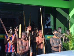 indígenas (Foto: Jackson Félix/ G1 RR)