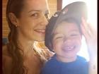 Luana Piovani posa sorridente com o filho mais velho e fãs elogiam