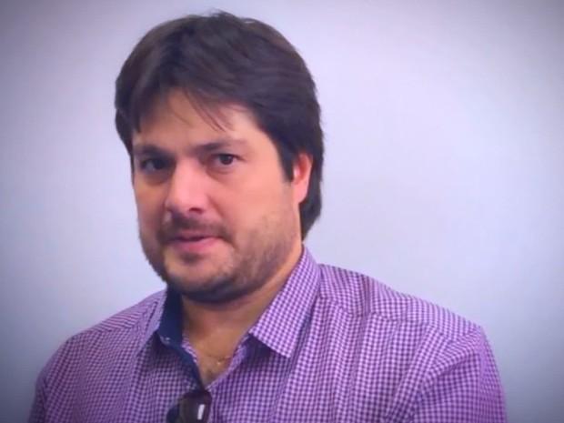 Empresário de Birigui, Luciano Justo, é acusado de provocar um acidente que matou um idoso em Araçatuba (Foto: Reprodução/TV TEM)