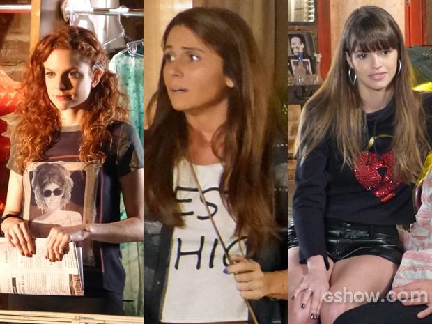 Looks diferentes com a mesma peça que não sai de moda (Foto: Em Familia/TVGlobo)