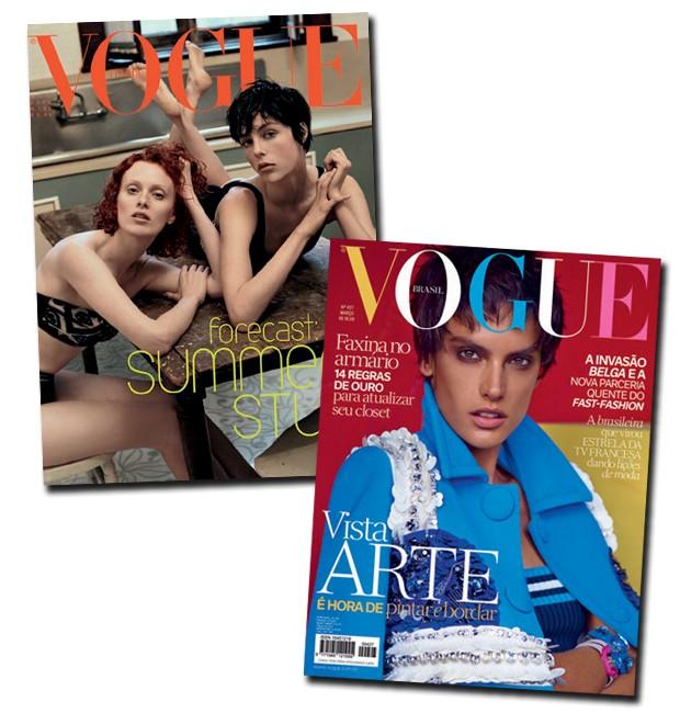 O pixie nas capas das Vogues italiana e brasileira (Foto:  )