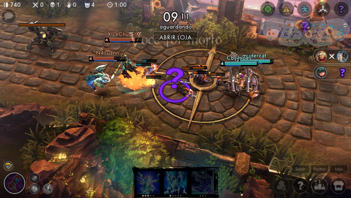 Como jogar Vainglory, o Moba adaptado para celulares (Foto: Reprodução/Felipe Vinha)