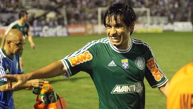 Tiago Real comemoração Palmeiras jogo ASA (Foto: Cesar Greco / Ag. Estado)