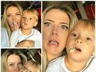 Davi Lucca, filho de Neymar, faz careta com a mãe em rede social