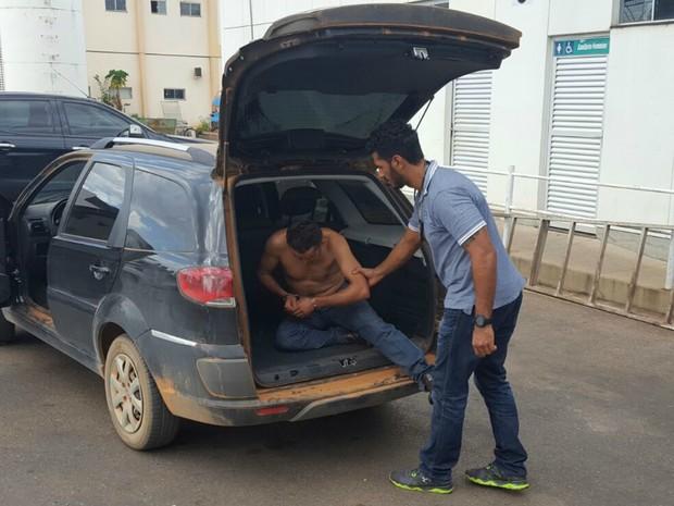 Suspeito foi preso em um hotel pela Polícia Civil de Mato Grosso (Foto: Divultação/Polícia Civil de MT)