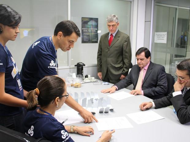 Debate segundo turno TV RO (Foto: Ana Luiza Moreira/G1)