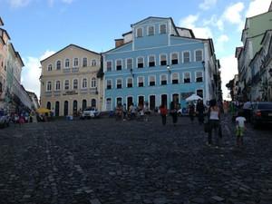 Bairro do Pelourinho, no Centro Histórico de Salvador (Foto: Henrique Mendes / G1 )