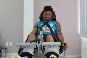 Jogadores do Paysandu passam por exames (Foto: Fernando Torres/Ascom Paysandu)