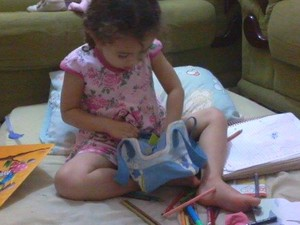 Maria Júlia Ferreira dos Santos, de 4 anos, tem alergia alimentar, em Catalão Goiás (Foto: Arquivo Pessoal)