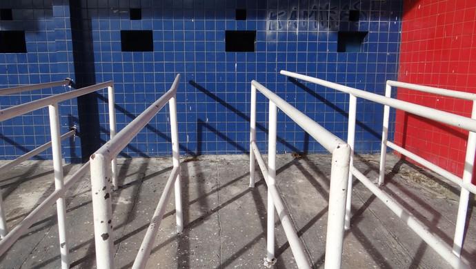 Bilheteria do Estádio Rei Pelé, em Maceió (Foto: Caio Lorena / Globoesporte.com)