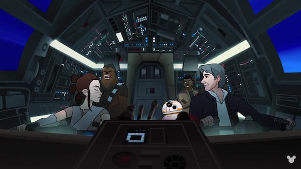 O curta ambientado no universo de Star Wars protagonizado por Rey e Han Solo (Foto: Reprodução)