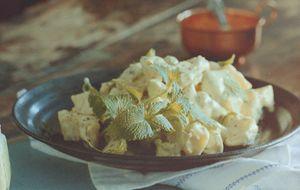 Receita de salada de batata-doce com maionese de coco