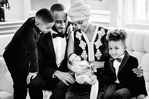A família da cantora Alicia Keys (Foto: Instagram)