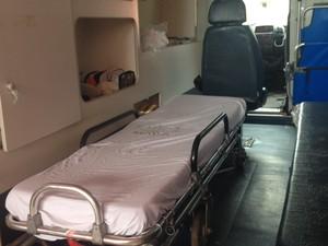 Com a retenção, as ambulâncias ficam impossibilitadas de realizar novos atendimentos.  (Foto: Jéssica Alves/G1)