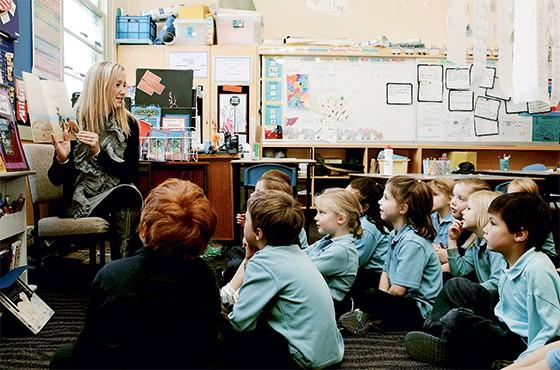 Alunos numa escola da Austrália  (Foto: Stefan Postles/Sydney Morning Herald/Fairfax Media via Getty Images)
