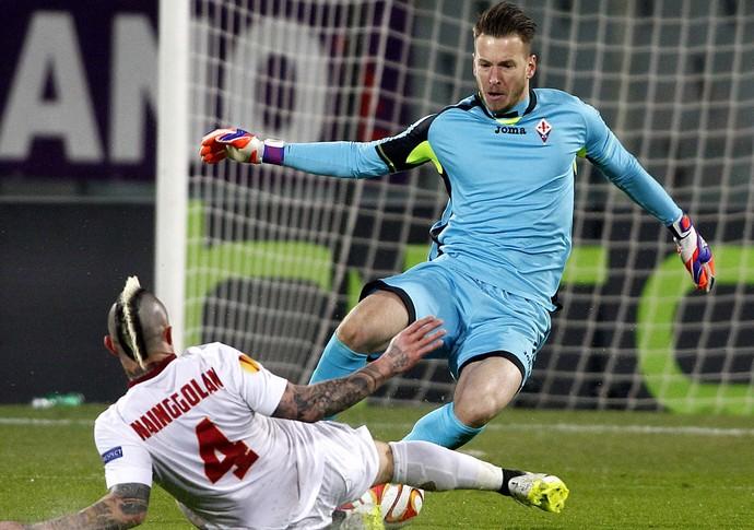Fiorentina x Roma - Neto (Foto: AP)