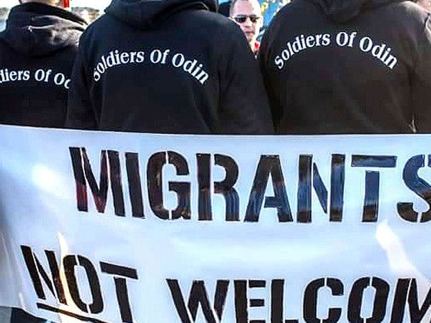 Patrulha faz manifestações hostis para receber refugiados (Foto: Reprodução/Facebook/Soldiers of Odin)
