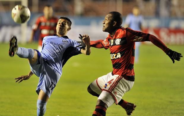 Arce e Samir, Bolivar x Flamengo (Foto: AFP)