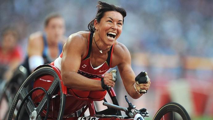 Chantal Petitclerc é uma das maiores atletas paralímpicas do Canadá (Foto: MARK RALSTON/AFP/Getty Images)