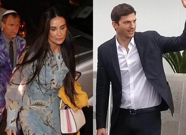 Demi Moore e Ashton Kutcher chegam a casamento vip (Foto: AgNews)