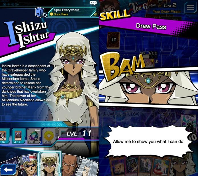 Yu-Gi-Oh! Duel Links: as habilidades mais úteis de Ishizu precisam ser dropadas (Foto: Reprodução/Vinícius Mathias)