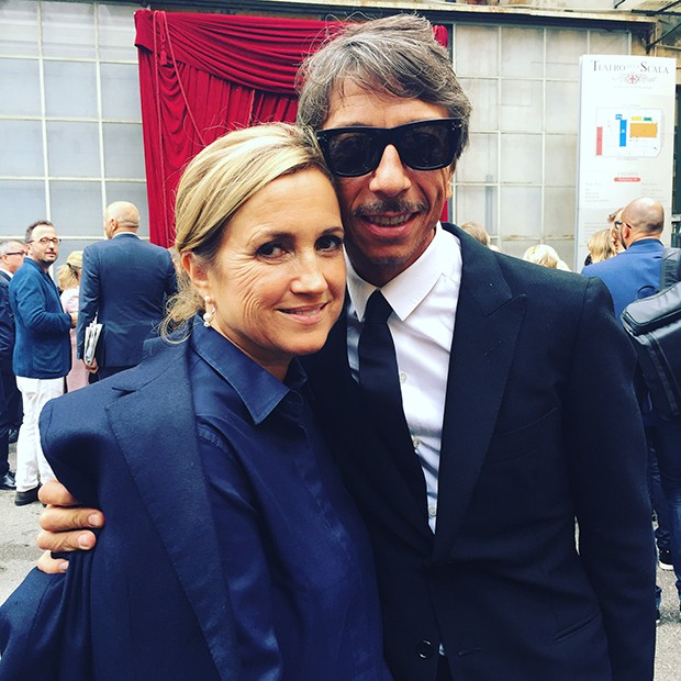 Silvia Venturini Fendi and Pierpaolo Piccioli of Valentino at the official opening of Milan Fashion Week (Foto: @SuzyMenkesVogue)