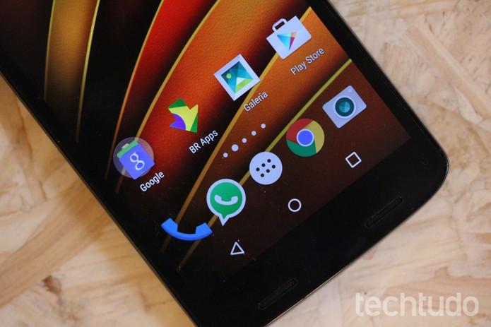 Com 3 GB de RAM, o Moto X Force tem capacidade para rodar aplicativos pesados (Foto: Luana Marfim/TechTudo)