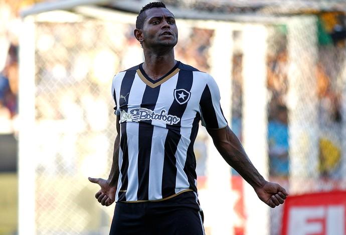 Jobson comemora gol do Botafogo contra o Nova Iguaçu (Foto: Vitor Silva / SSpress)